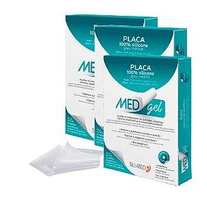 Medgel Kit com 3 Silimed Placa de Silicone com 1 unidade