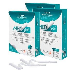 Medgel Kit com 3 Silimed Tira de Silicone com 2 unidades