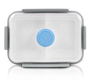 Jacki Design Pote Marmita Com 3 Compartimentos Cor Azul 1400ml