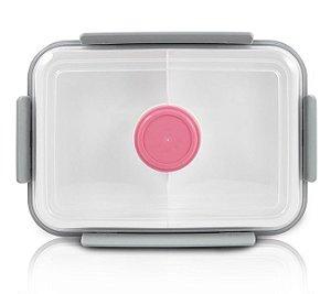 Jacki Design Pote Marmita Com 3 Compartimentos Cor Rosa 1400ml