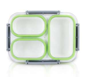 Jacki Design Pote Marmita Com 3 Compartimentos Cor Verde 1350ml
