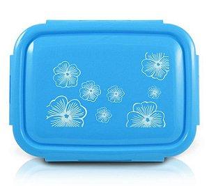 Jacki Design Pote Marmita Com 4 Compartimentos Cor Azul 1350ml