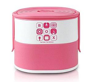 Jacki Design Pote Marmita De 2 Andares Cor Pink 1690ml