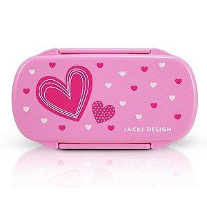 Jacki Design Pote Para Lanche Coração Pink Cor Pink