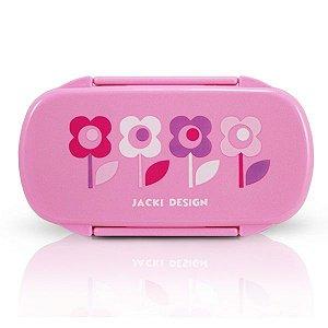 Jacki Design Pote Para Lanche Flor Rosa Cor Rosa
