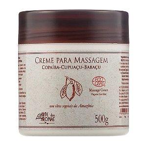 Arte Dos Aromas Creme Para Massagem Copaíba-Cupuaçu-Babaçu Orgânico 500g