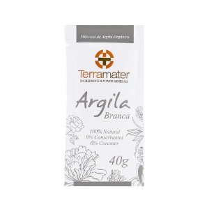 Terramater Argila Branca Orgânica 40g