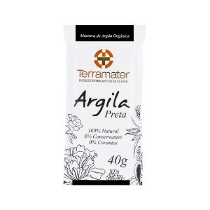 Terramater Argila Preta Orgânica 40g