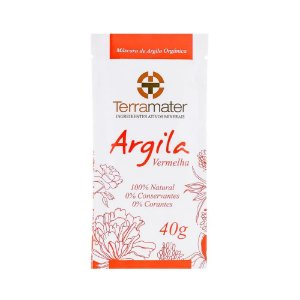 Terramater Argila Vermelha Orgânica 40g