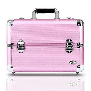 Jacki Design Maleta Profissional de Maquiagem G Rosa