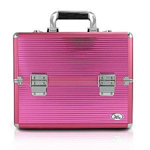Jacki Design Maleta Profissional de Maquiagem M Pink
