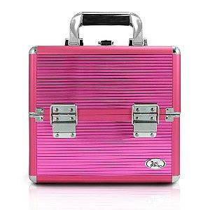Jacki Design Maleta Profissional de Maquiagem P Pink