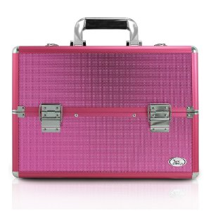 Jacki Design Maleta Profissional de Maquiagem Pink