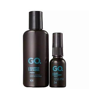 Go Kit Shampoo e Óleo Fresh para Barba