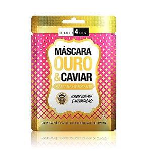 Beauty 4 Fun Máscara Hidrantante Ouro e Caviar 8g