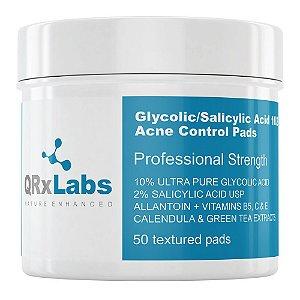 QRxLabs Lenços de Ácido Glicólico a 10% e Ácido Salicílico a 2% 1Un