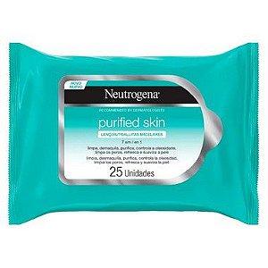 Neutrogena Lenço Micelar 7 Em 1 Purified Skin 25un (Validade 07/2020)