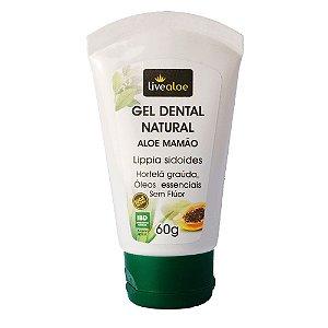 Live Aloe Gel Dental Natural Aloe Mamão 60g