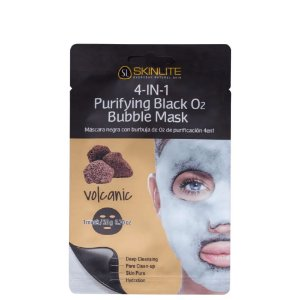 Skinlite 4 Em 1  Vulcânica Máscara Purificante Preta com Bolhas de Oxigênio
