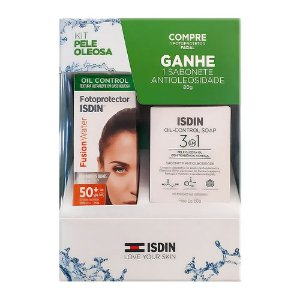 Isdin Kit Fusion Water FPS 50 + Oil Control Soap 80g