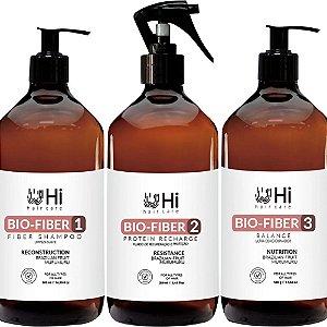 Hi Hair Care Kit Bio Fiber 3 Passos