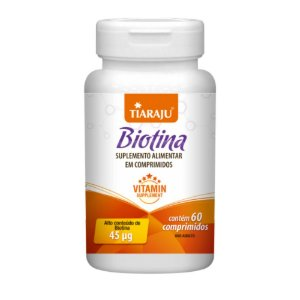 Tiaraju Biotina 45mcg 60 Comprimidos
