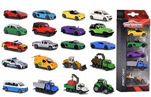MAJORETTE STREET CARS CONJUNTO COM 5 PEÇAS 1/64