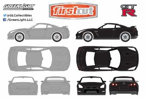 2014 NISSAN SKYLINE GT-R (SET 2PCS) 1/64