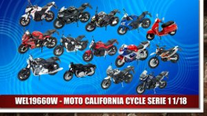 1:18 MOTO CALIFORNIA CYCLE SERIE 1