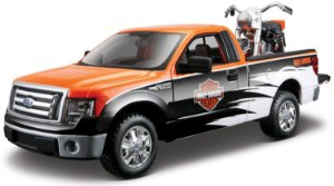FORD F-150 + MOTO HARLEY FLH DUO GLIDE 1/24