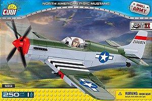 AVIÃO MILITAR P-51C MUSTANG COM BONECO BLOCOS PARA MONTAR COM 250 PÇS