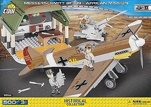 AVIÃO DE CAÇA ALEMÃO MESSERSCHMITT BF 109 MISSÃO AFRICA BLOCOS PARA MONTAR COM 500 PCS