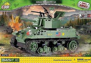 TANQUE M5A1 STUART VI BLOCOS PARA MONTAR COM  345 PÇS