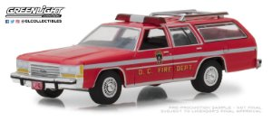 1990 FORD LTD CROWN VICTORIA WAGON D.C. FIRE DEPT 1/64