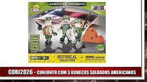 CONJUNTO COM 3 BONECOS SOLDADOS AMERICANOS