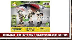 CONJUNTO COM 3 BONECOS SOLDADOS INGLESES