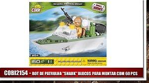 """BOT DE PATRULA """"SHARK"""" BLOCOS PARA MONTAR COM 60 PCS"""