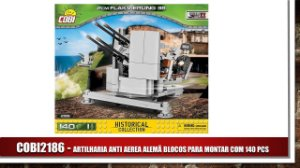 ARTILHARIA ANTI AEREA ALEMÃ BLOCOS PARA MONTAR COM 140 PCS