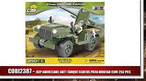 JEEP AMERICANO ANTI TANQUE BLOCOS PARA MONTAR COM 250 PCS