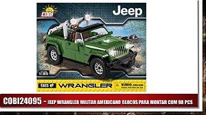 JEEP WRANGLER MILITAR AMERICANO BLOCOS PARA MONTAR COM 98 PCS