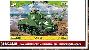 TANK AMERICANO SHERMAN M4A1 BLOCOS PARA MONTAR COM 480 PCS