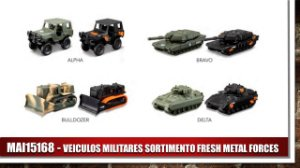 VEICULOS MILITARES SORTIMENTO FRESH METAL FORCES