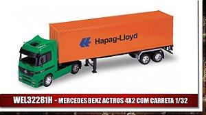MERCEDES BENZ ACTROS 4X2 COM CARRETA 1/32