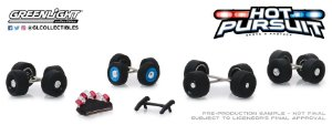 HOT PURSUIT WHEEL & TIRE PACK 1/64