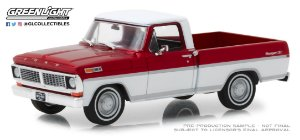 1970 FORD F-100 CANDY APPLE RED AND WIMBLEDON WHITE 1/43