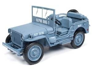 JEEP WILLYS NAVY 1/18