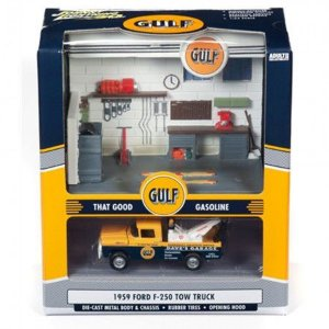 JOHNNY LIGHTNING GULF SERVICE CENTER DIORAMA 1/64