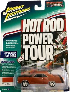 JOHNNY LIGHTNING DODGE DART SWINGER LARANJA HOT ROD POWER TOUR 1/64
