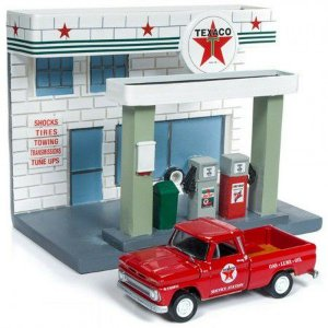 JOHNNY LIGHTNING TEXACO SERVICE CENTER DIORAMA 1/64