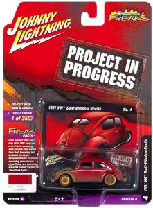 JOHNNY LIGHTNING VW FUSCA  VERMELHO PROJECT IN PROGRESS 1/64